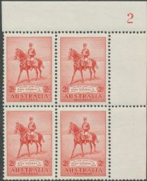 SG 156 1935 2d Silver Jubilee of King George V plate 2 block (AG6/307)